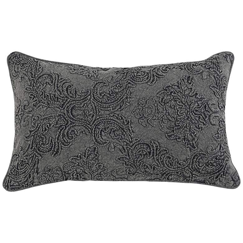 "Lantry Charcoal 26"" x 14"" Decorative Pillow"