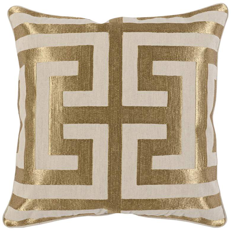 """Stately Gold 22"""" Square Decorative Pillow"""