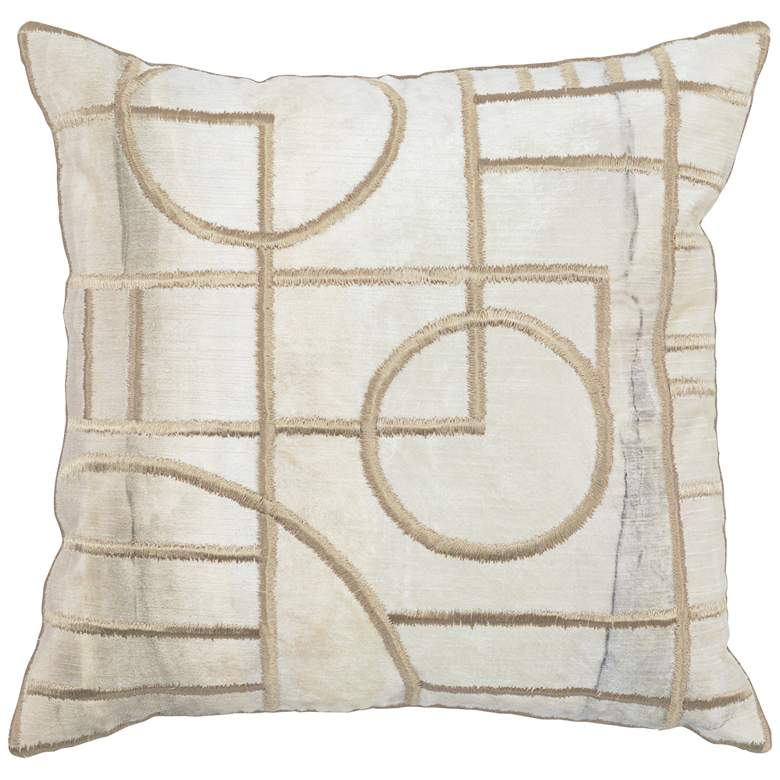 "Alex Natural 18"" Square Decorative Pillow"