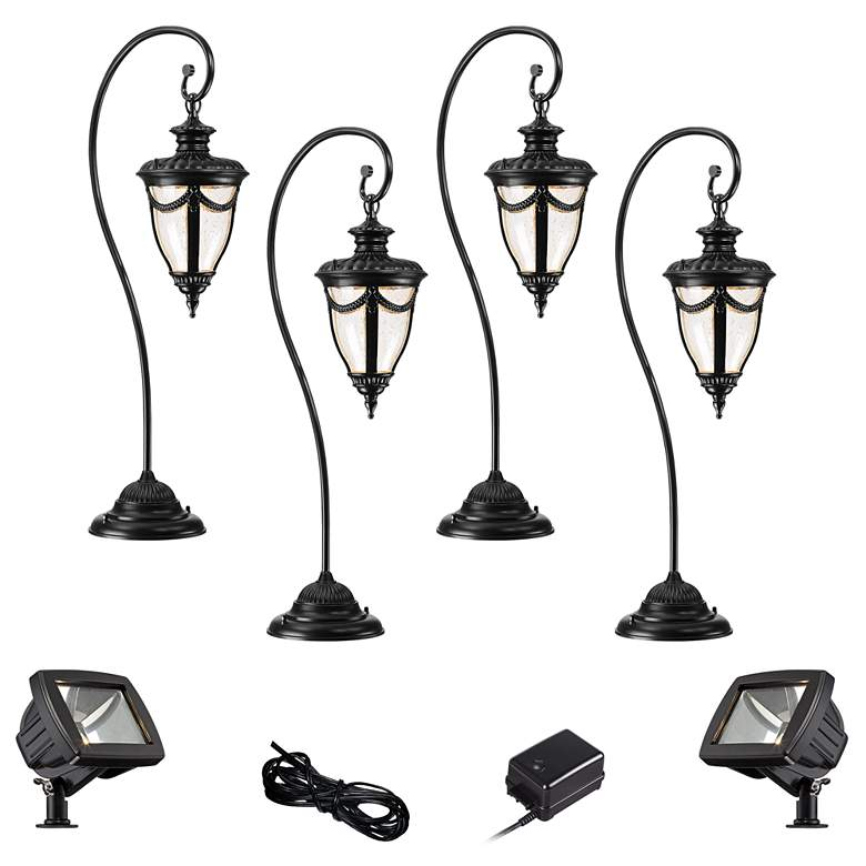 Neptune Black 8-Piece LED Landscape Path and Flood