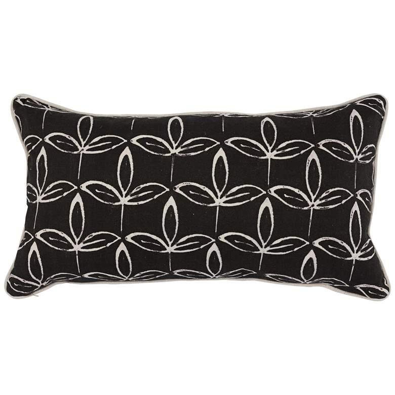 """Kelly Black 26"""" x 14"""" Decorative Pillow"""