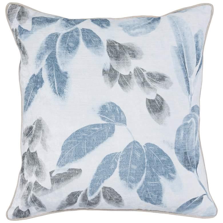"""Haley Rain Blue 20"""" Square Decorative Pillow"""