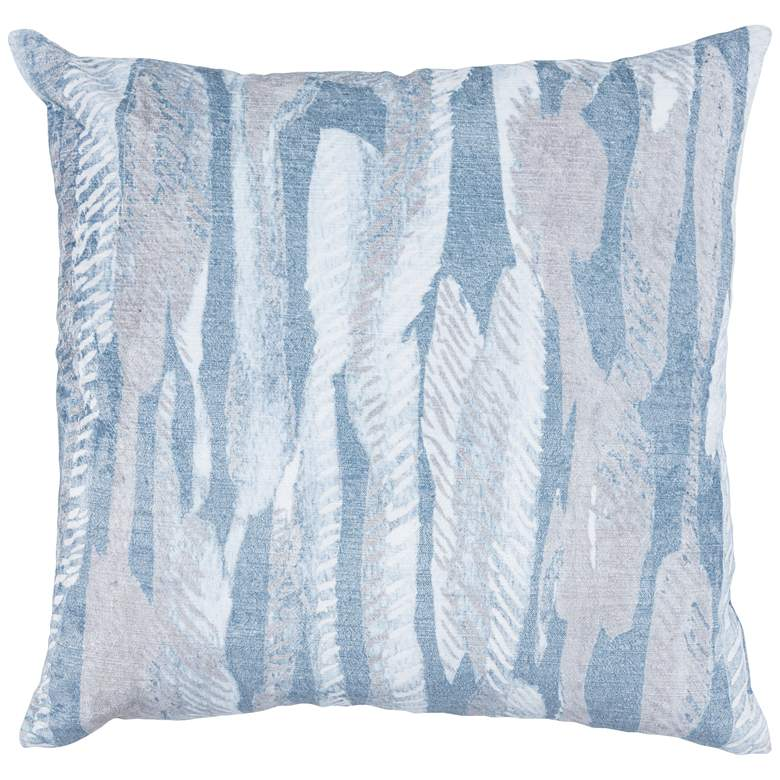 "Kristina Rain Blue 22"" Square Decorative Pillow"