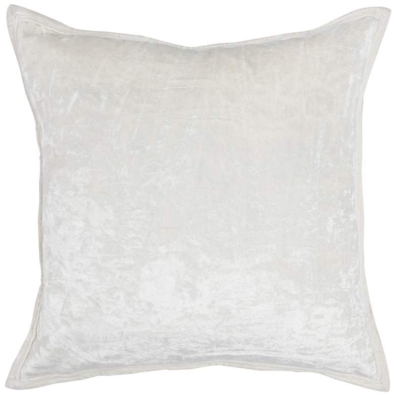 "Jackie Ivory 20"" Square Decorative Pillow"