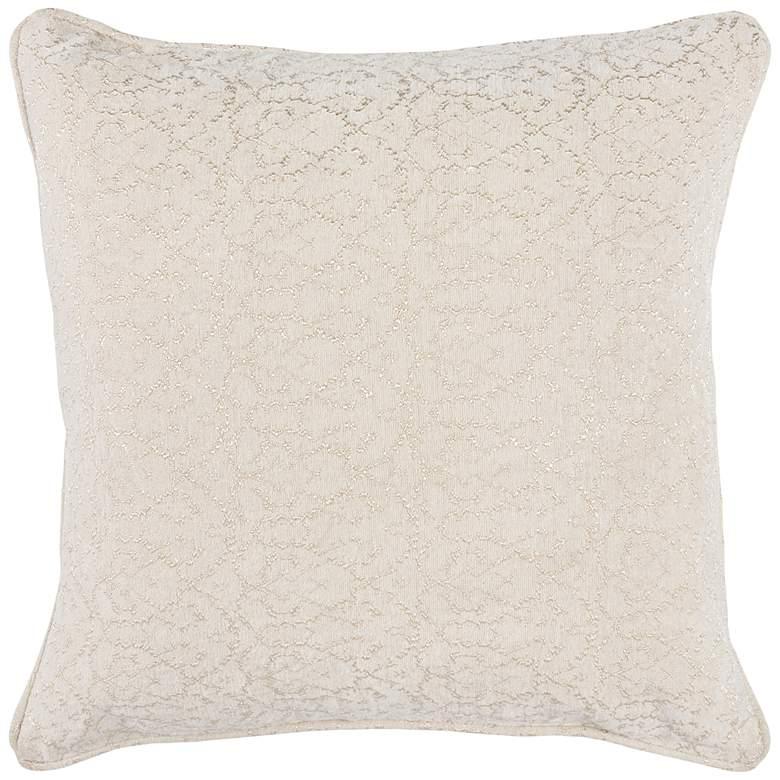 "April Ivory 22"" Square Decorative Pillow"