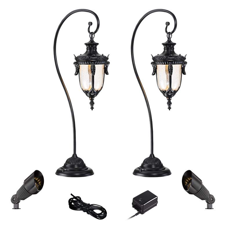 Calistoga Black 6-Piece LED Path and Spot Light Set