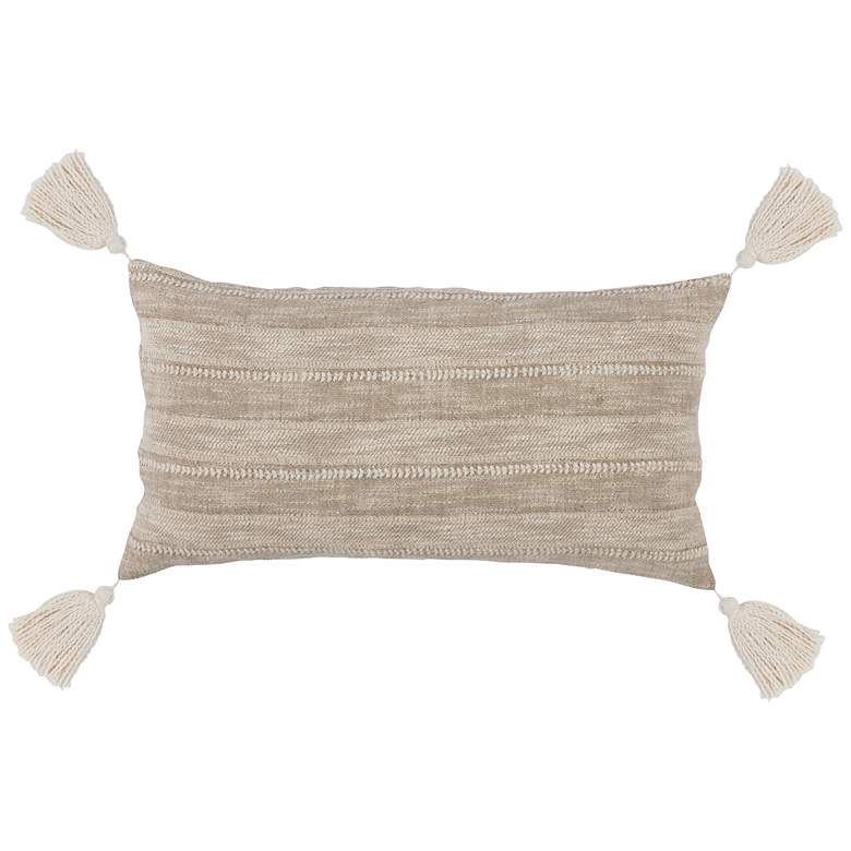 """Manteca Natural 26"""" x 14"""" Decorative Pillow"""