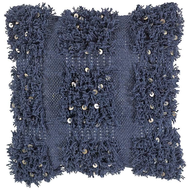 "Boho Navy 18"" Square Decorative Pillow"