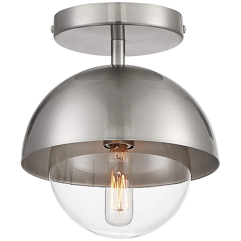 "Possini Euro Valier 7""W Polished Nickel Ceiling Light"
