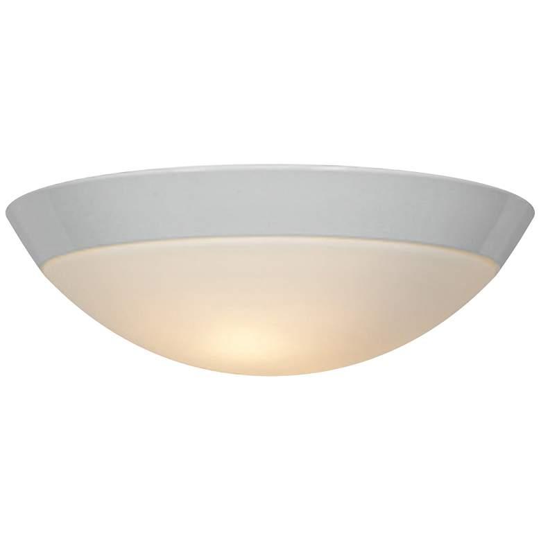 "Cobalt 13"" Wide White Metal Outdoor Ceiling Light"