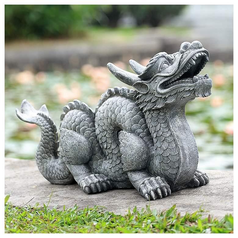 "Honorable Dragon 29 1/2"" Wide Garden Statue"