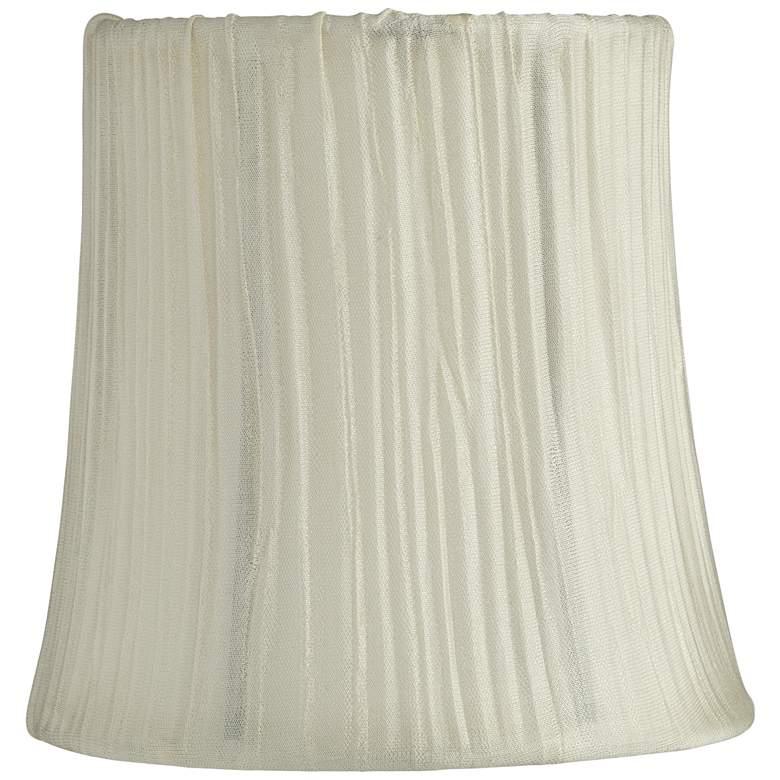 Peaks Cream Mushroom Pleated Lamp Shade 4x5x5 (Clip-On)