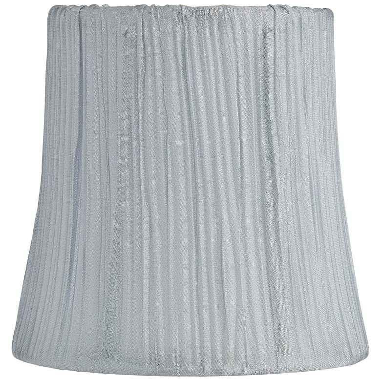 Peaks Gray Mushroom Pleated Lamp Shade 4x5x5 (Clip-On)