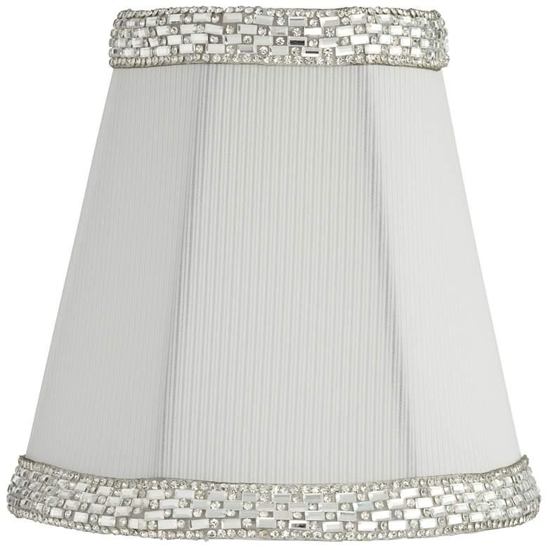 Gull White Round Beaded Trim Lamp Shade 3x5x5