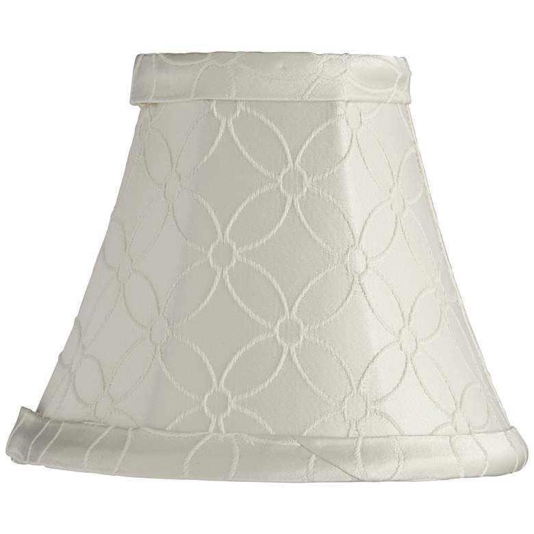 An Qing Off-White Bell Lamp Shade 3x6x5 (Clip-On)