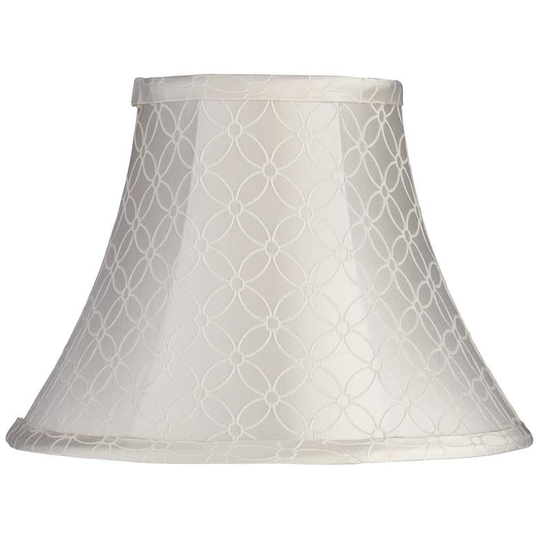 An Qing Off-White Bell Lamp Shade 6x12x9 (Spider)