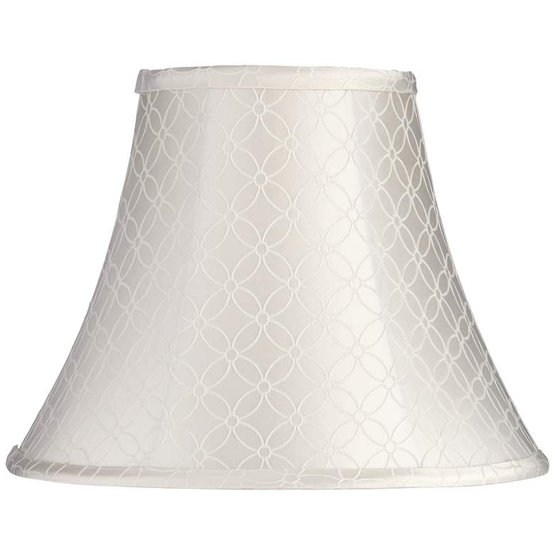 An Qing Off-White Bell Lamp Shade 7x14x11 (Spider)