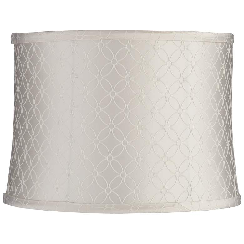 An Qing Off-White Drum Lamp Shade 13x14x10 (Spider)