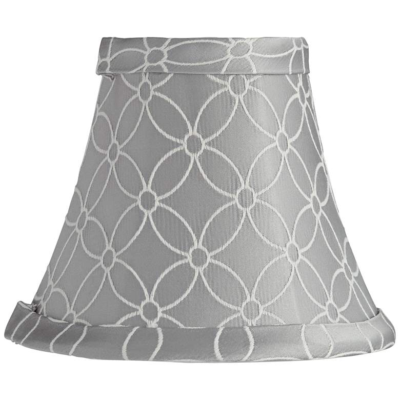 An Qing Gray Bell Lamp Shade 3x6x5 (Clip-On)
