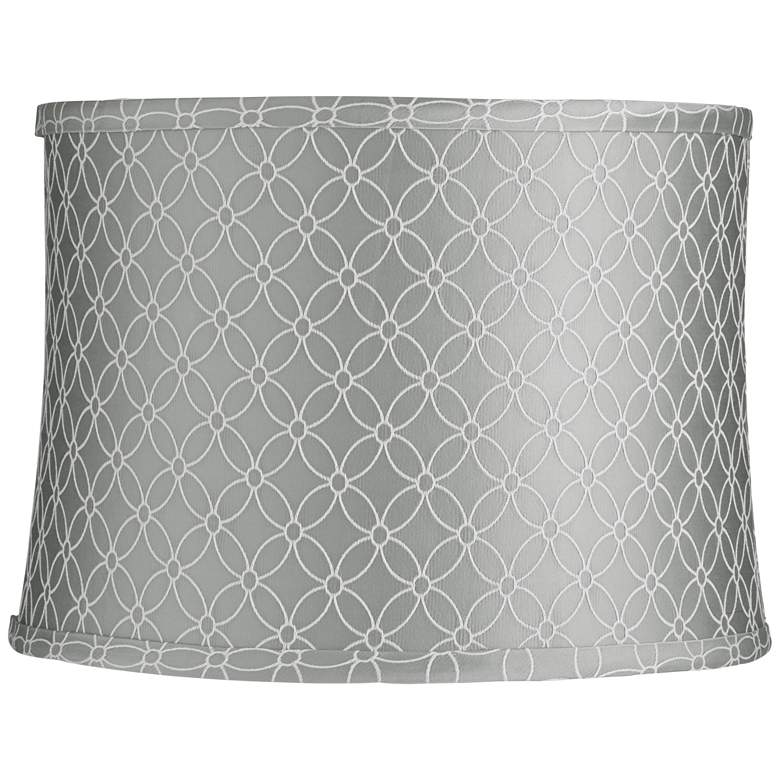 An Qing Gray Drum Lamp Shade 13x14x10 (Spider)