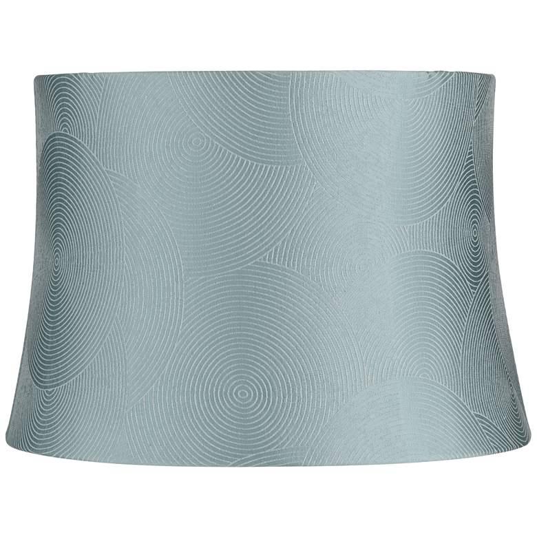 Croydon Blue Drum Lamp Shade 13x15x10.5 (Spider)