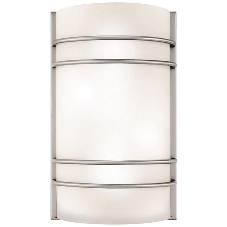 "Artemis 12 1/4"" High Brushed Steel LED Wall"