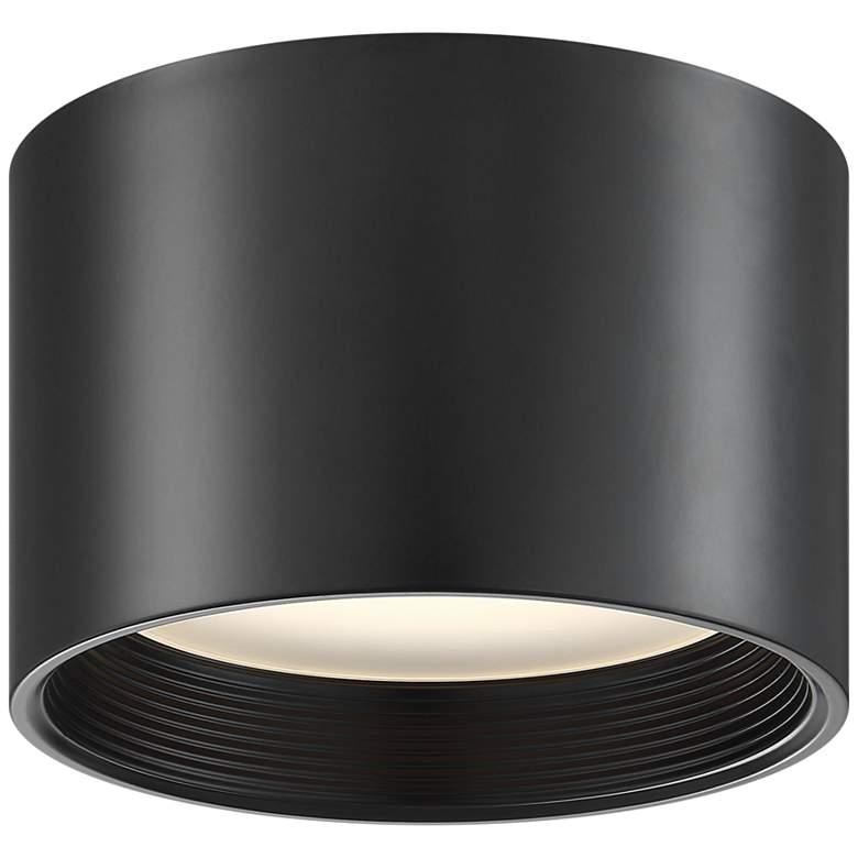 """Reel 8"""" Wide Black LED Cylinder Ceiling Light"""