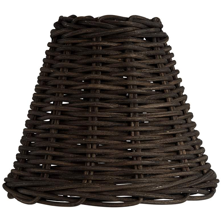 Black Wicker Weave Lamp Shade 3x6x5 (Clip-On)