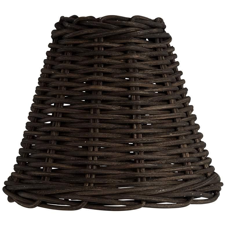 Black Wicker Weave Lamp Shade 3x6x5 (Clip-On)