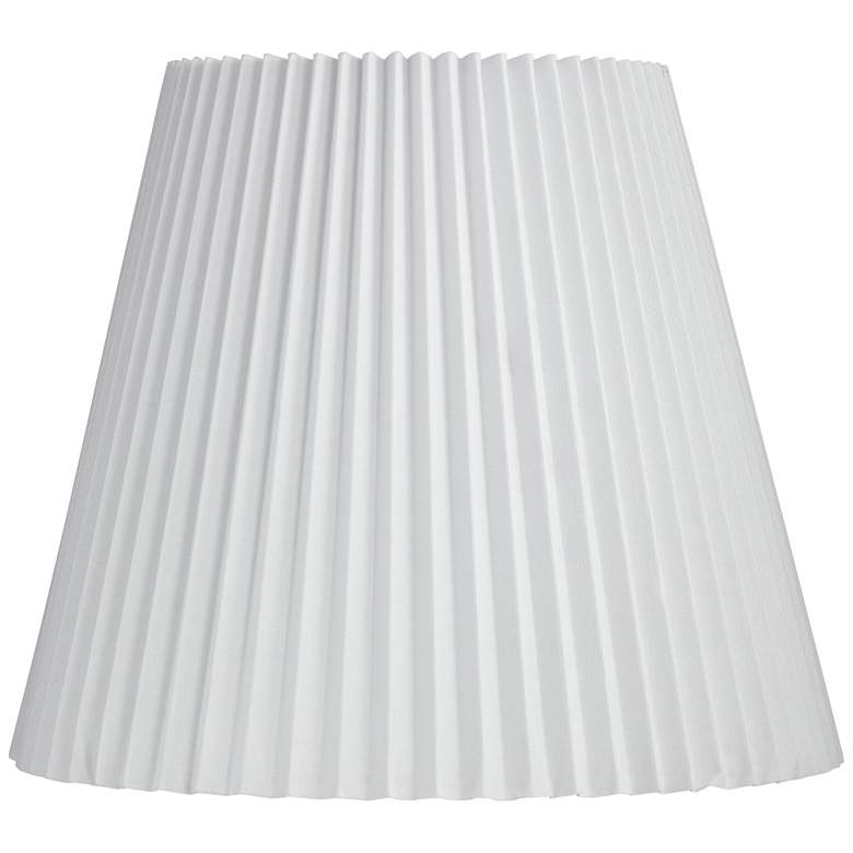 White Pleat Linen Empire Lamp Shade 10x17x14.75 (Spider)