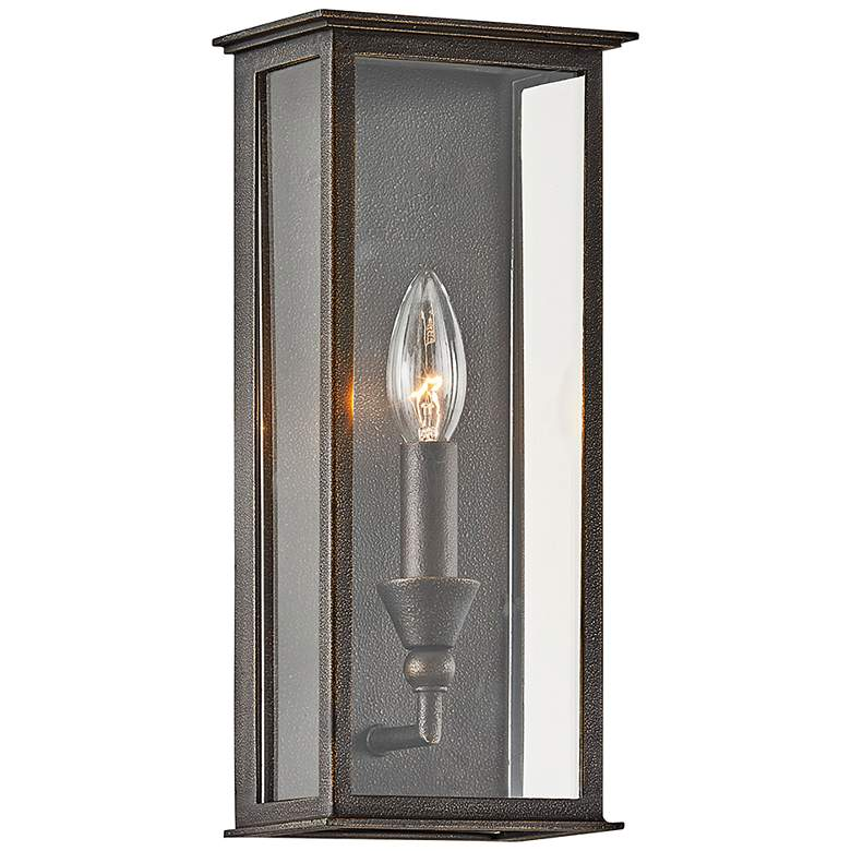 "Chauncey 13 1/4"" High Vintage Bronze Outdoor Wall"