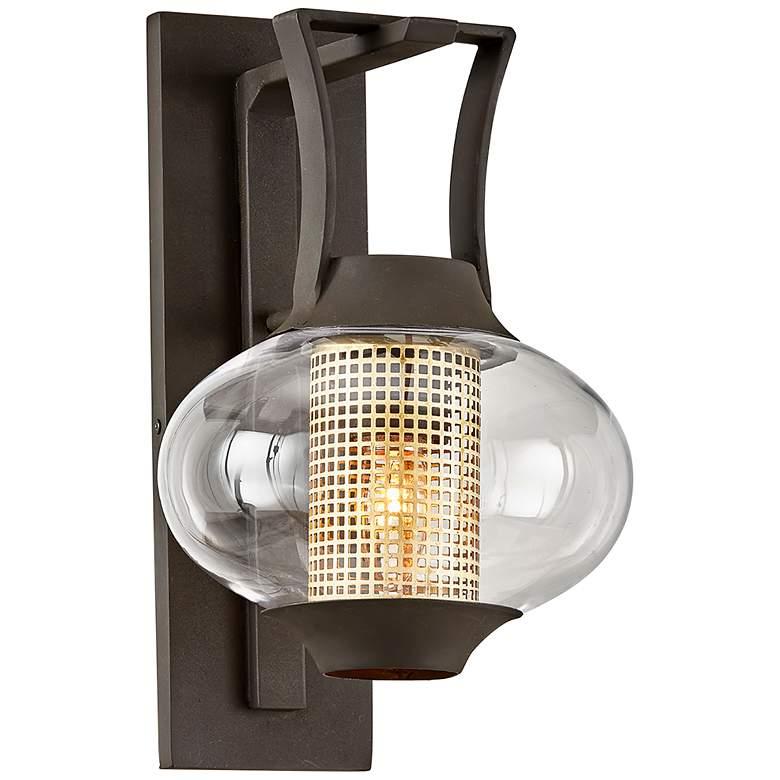 """Horton 14 1/4"""" High Texture Bronze Outdoor Wall Light"""
