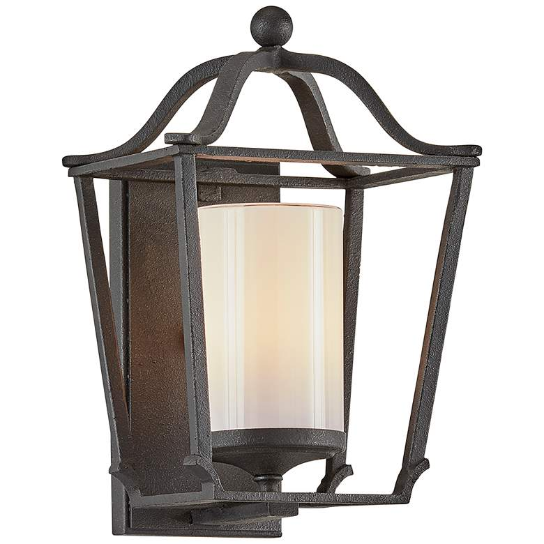 "Princeton 12 1/2"" High French Iron Outdoor Wall Light"