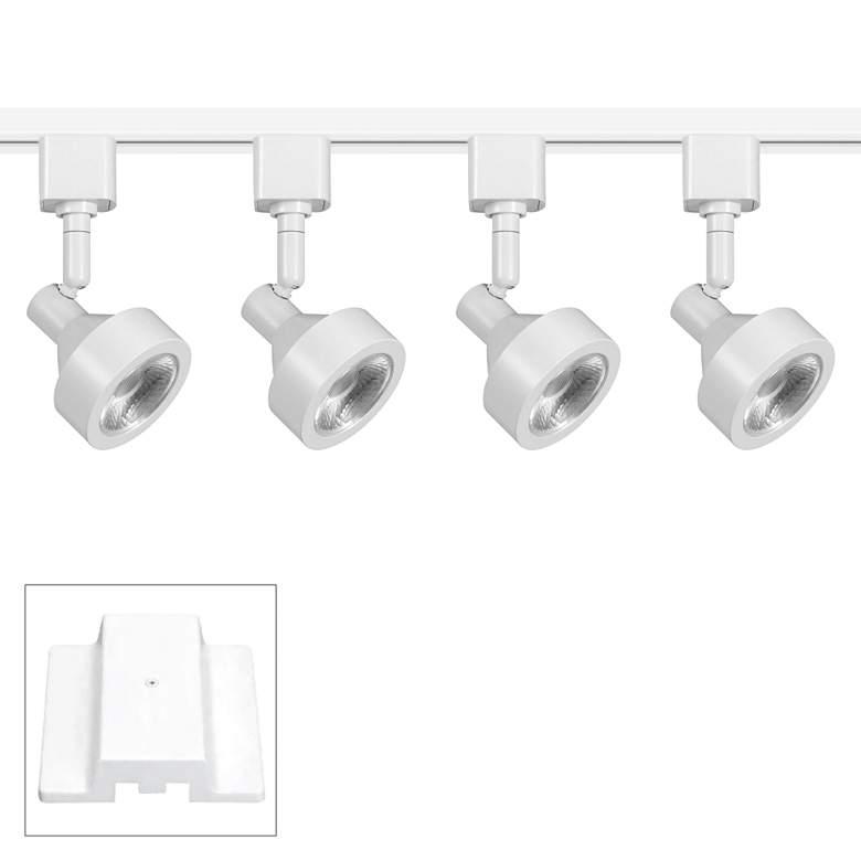 4-Light White Wide Bullet 8W LED Floating Canopy
