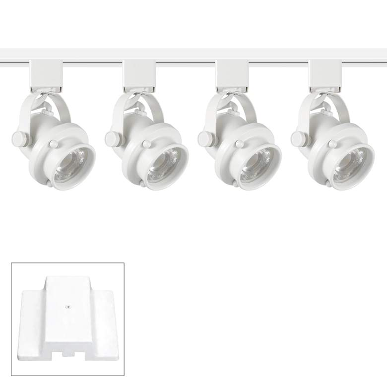 Pro Track Retro 4-Light White LED Floating Canopy Track Kit