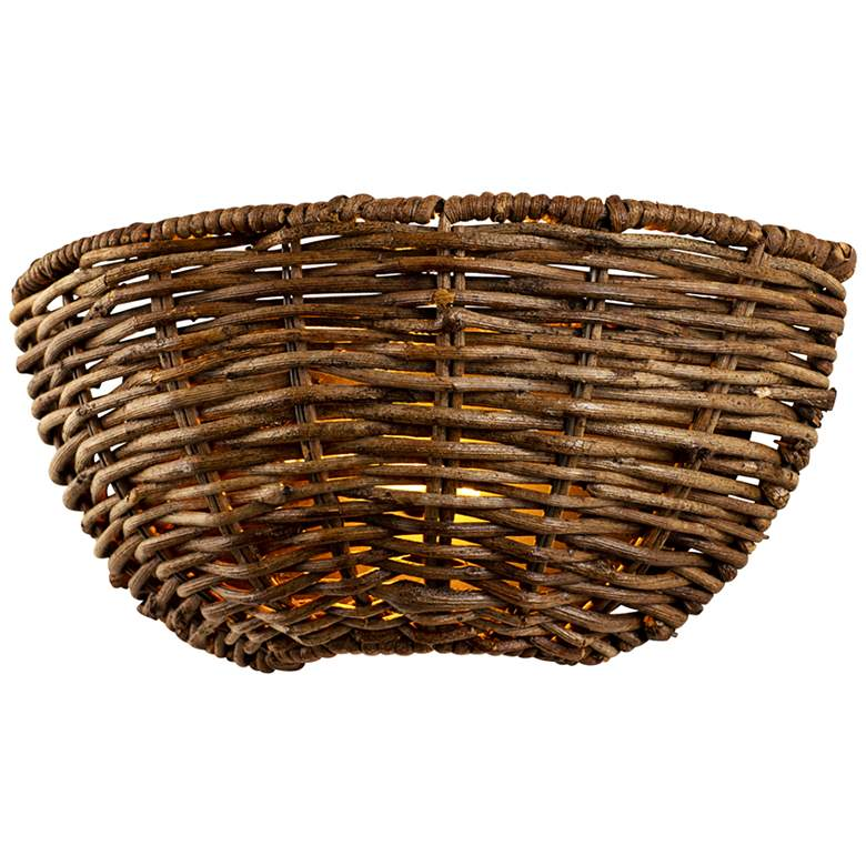 "Huxley 5 3/4"" High Tidepool Bronze LED Basket"