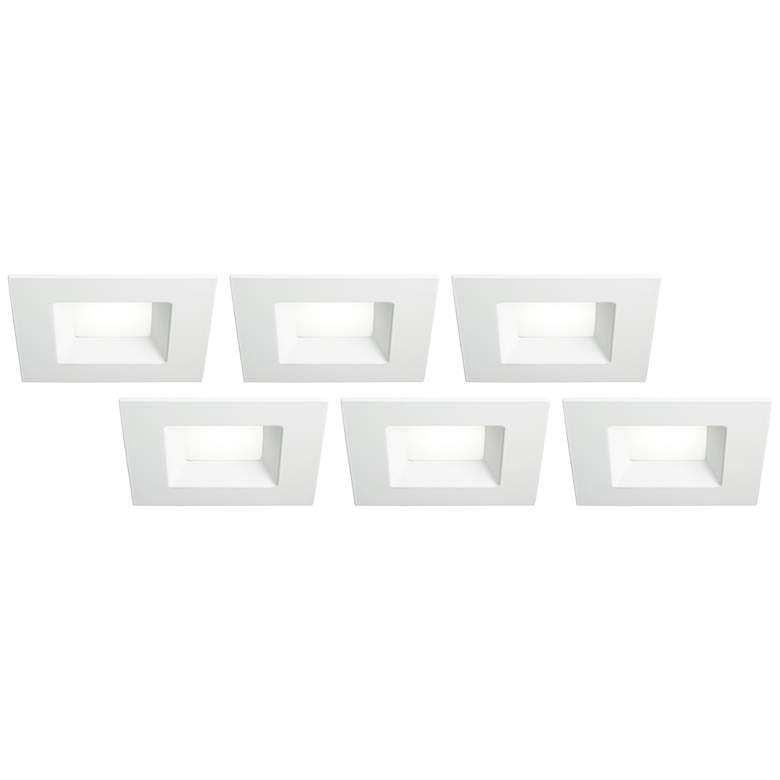 "6"" White Square Retrofit 15 Watt LED Recessed"