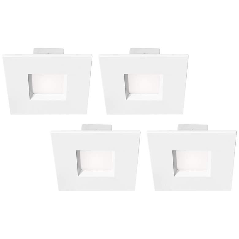 "Tesler 4"" White 10 Watt LED Recessed Retrofit Trims 4-Pack"