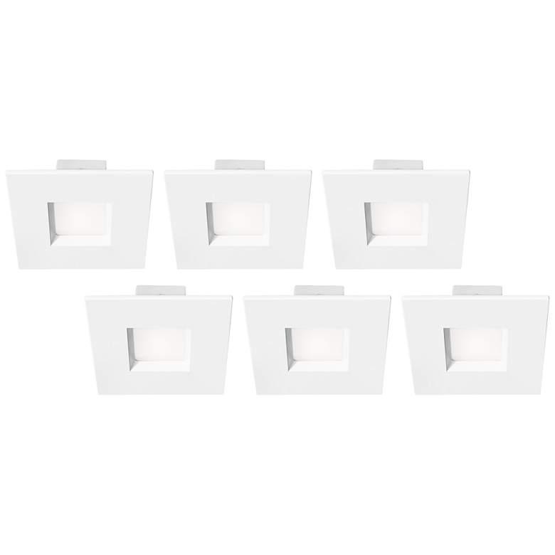 "Tesler 4"" White 10 Watt LED Recessed Retrofit Trims 6-Pack"