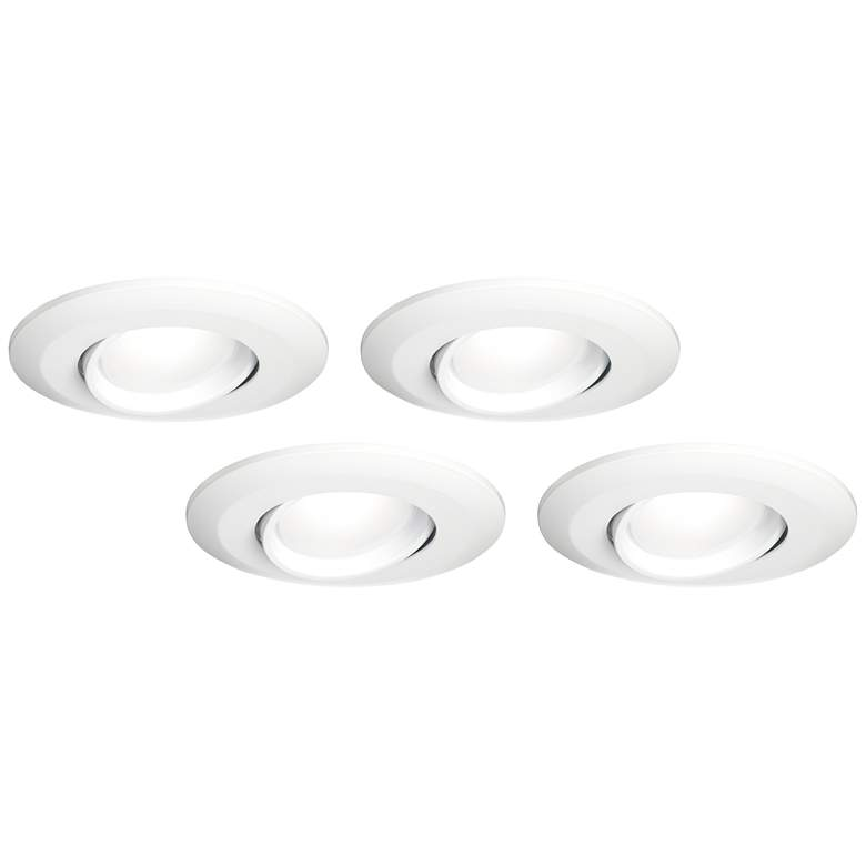 "5""/6"" White Gimbal Retrofit LED Eyeball 4-Pack"
