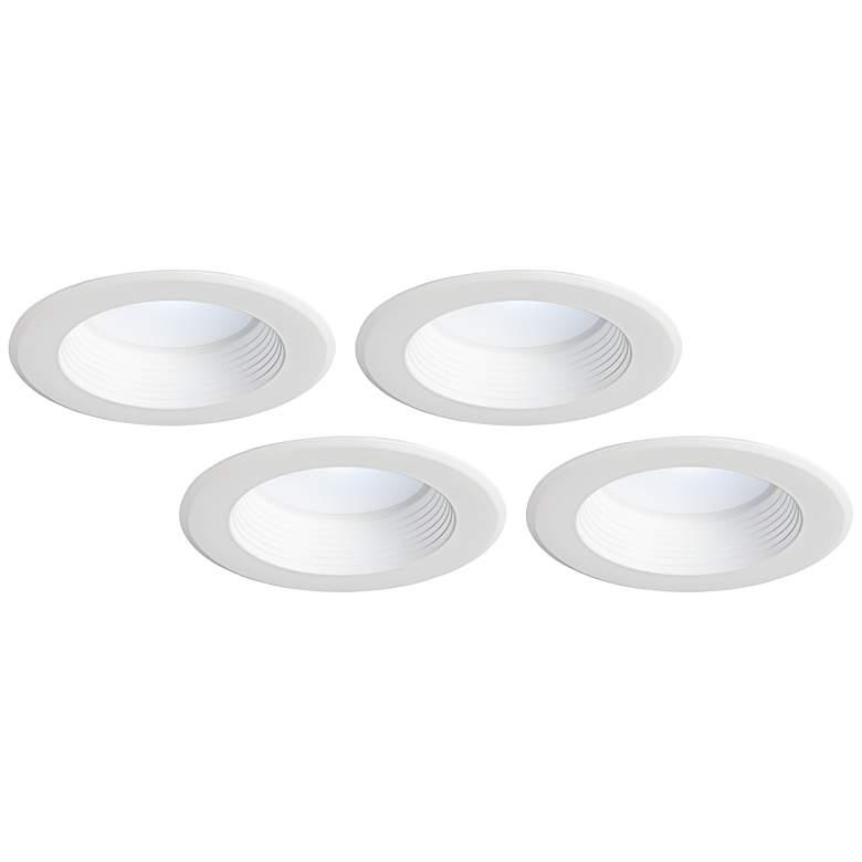 "Tesler 5""/6"" White Baffle 12 Watt LED Retrofit 4-Pack"