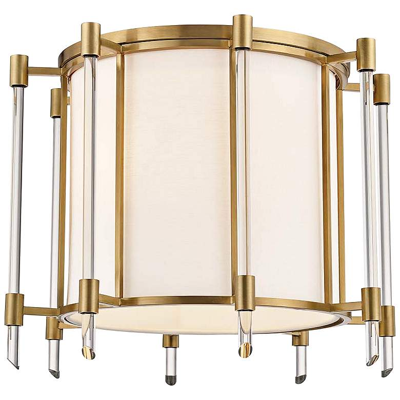 """Hudson Valley Delancey 15"""" Wide Aged Brass Ceiling"""