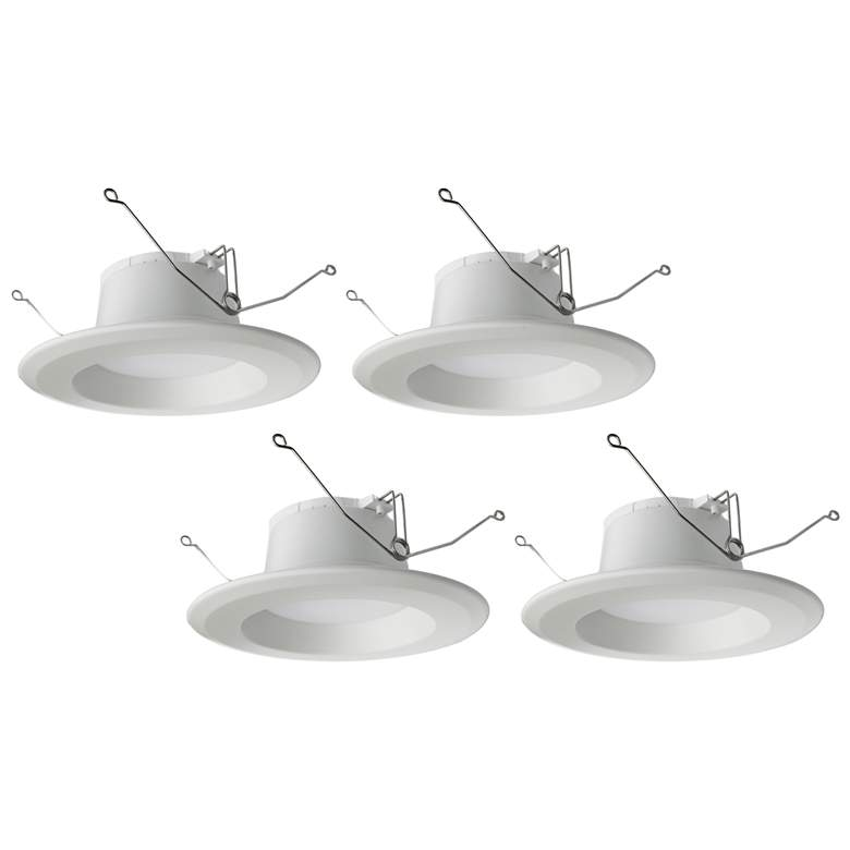 "Tesler 5""/6"" 15W Dimmable LED Retrofit Trims 4-Pack"