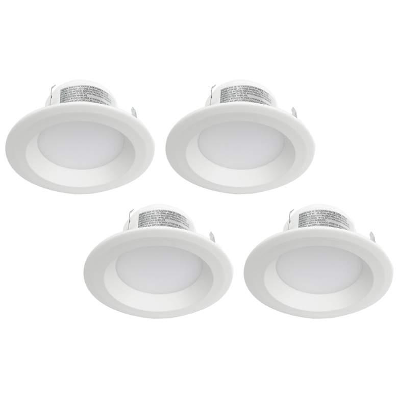 """Tesler 4"""" Plain White 11W 3000K LED Retrofit Trims 4-Pack"""