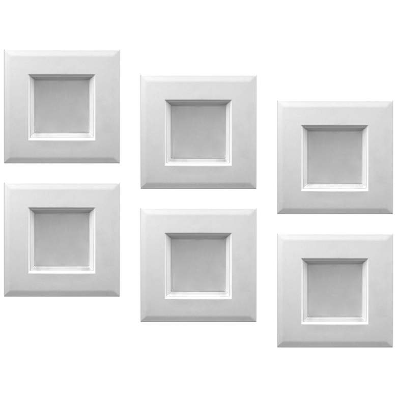 "Tesler 4"" White 10 Watt LED JA8 Retrofit Baffle Trims 6-Pack"