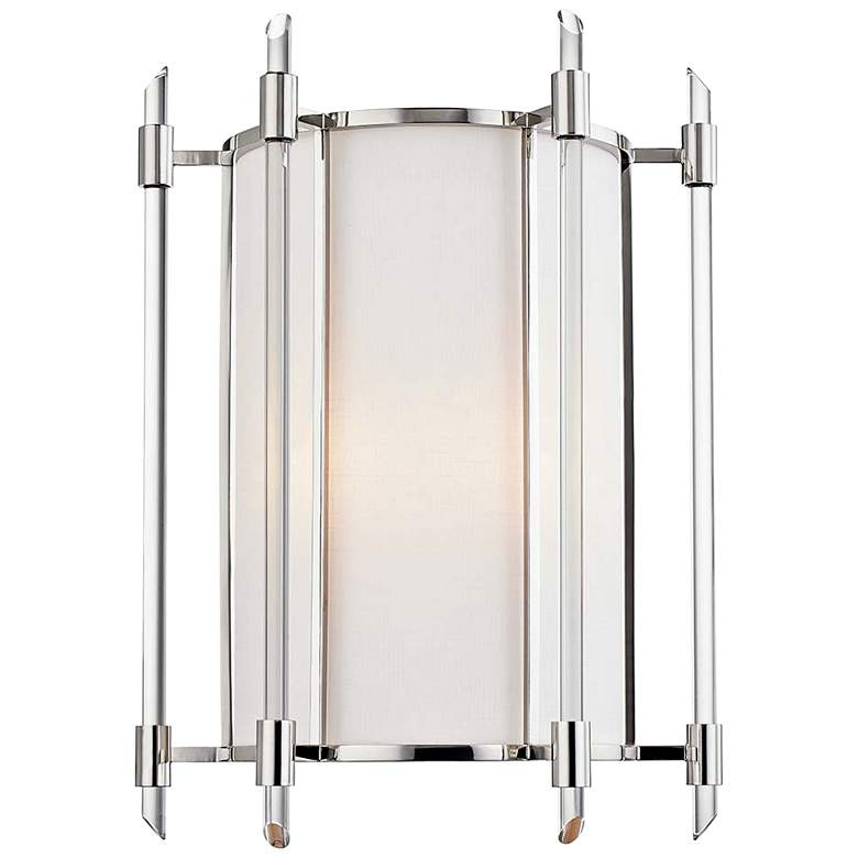 "Hudson Valley Delancey 15"" High Polished Nickel Wall Sconce"