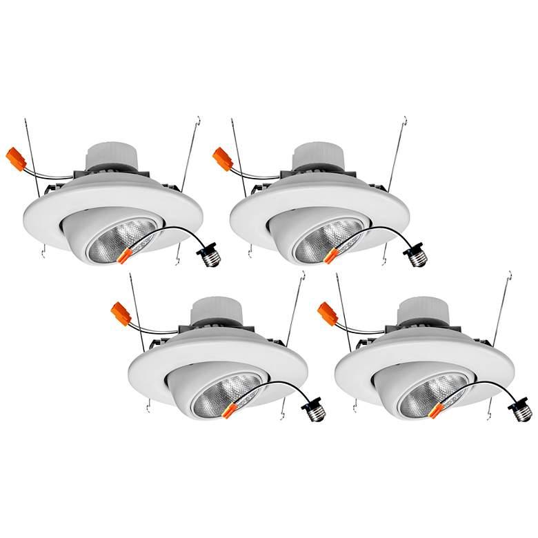 "Tesler 5""/6"" Eyeball 19 Watt LED Retrofit Trims 4-Pack"