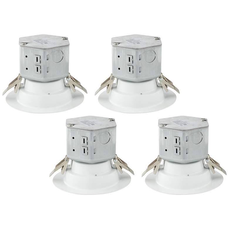 "Tesler Canless 4"" White 10W LED Retrofit Trims 4-Pack"