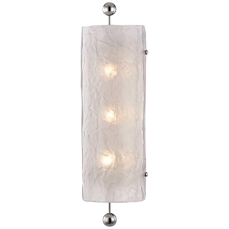 """Hudson Valley Broome 22 1/2""""H Polished Nickel Wall Sconce"""