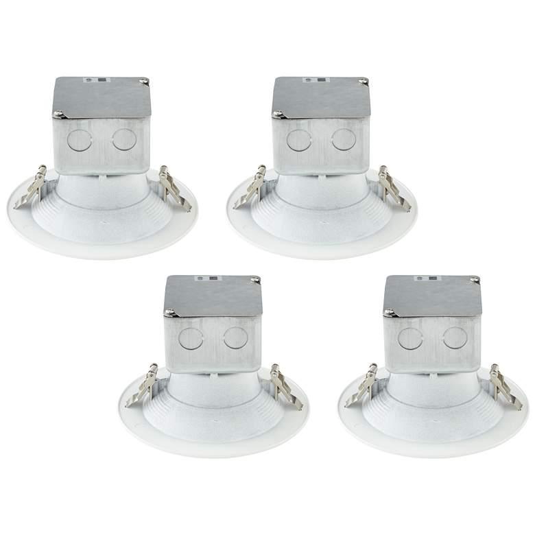 "Tesler Canless 5""/6"" White LED Retrofit Trims 4-Pack"